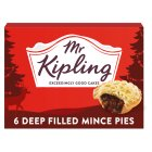 Mr Kipling Deep filled mince pies - 6s