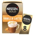 Nescafé Café Menu latte vanilla coffee - 8x18.5g Brand Price Match - Checked Tesco.com 24/11/2014