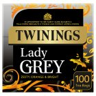 Twinings lady grey 100 tea bags - 250g