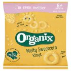 Organix organic sweetcorn rings - stage 2 - 20g Brand Price Match - Checked Tesco.com 10/03/2014