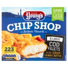Young's chip shop large cod fillets - 480g