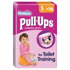 Huggies Pull Ups Potty Training Pants, Girl, Small 8-15kg - 16s