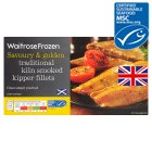 essential Waitrose MSC frozen smoked scottish kipper fillets with butter - 200g