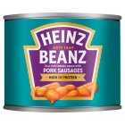 Heinz Baked Beanz with pork sausages - 200g Brand Price Match - Checked Tesco.com 27/07/2015