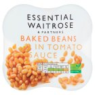 essential Waitrose baked beans in tomato sauce, 4 pack - 4x400g