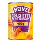 Heinz spaghetti with sausages - 400g Brand Price Match - Checked Tesco.com 05/03/2014