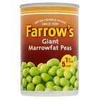 Farrow's canned  giant marrowfat processed peas - drained 180g