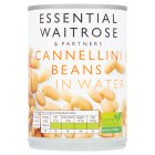 essential Waitrose canned cannellini beans in water - drained 235g