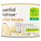 essential Waitrose canned butter beans in waiter - drained 125g