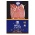 Wicks Manor dry-cured smoked back bacon - 250g