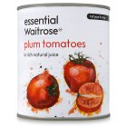 essential Waitrose tinned plum tomatoes in natural juice - 800g