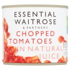 essential Waitrose tinned chopped tomatoes in natural juice - 227g