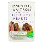essential Waitrose canned artichoke hearts in water - drained 240g