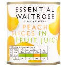 essential Waitrose Peach Slices (in fruit juice) - 205g