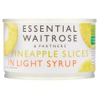 Essential Waitrose Pineapple Slices (in light syrup) - drained 140g