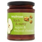 Waitrose apple & walnut chutney - 350g