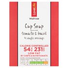 Waitrose LoveLife Calorie Controlled tomato & basil soup in a cup - 4x16.5g