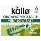 Kallo low salt organic vegetable stock cubes - 60g