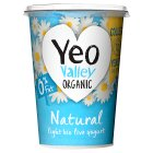 Yeo Valley organic 0% fat natural yogurt - 500g Brand Price Match - Checked Tesco.com 26/11/2014
