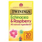 Twinings echinacea & raspberry 20 tea bags - 40g Brand Price Match - Checked Tesco.com 08/02/2016