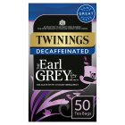Twinings Earl Grey decaffeinated 50 tea bags - 125g Brand Price Match - Checked Tesco.com 24/08/2016
