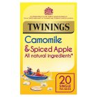 Twinings moment of calm camomile & spiced apple 20 tea bags - 25g Brand Price Match - Checked Tesco.com 16/07/2014