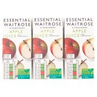 essential Waitrose pure apple juice, 6 pack - 6x200ml