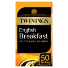 Twinings English breakfast 50 tea bags - 125g Brand Price Match - Checked Tesco.com 04/12/2013