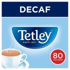 Tetley decaffeinated 80 tea bags - 250g