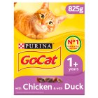 Purina go-cat adult with chicken, duck & rabbit - 825g Brand Price Match - Checked Tesco.com 16/07/2014