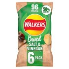 Walkers Baked salt & vinegar crisps - 6x25g