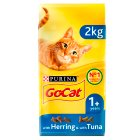 PURINA® GO-CAT® ADULT Cat with Tuna, Herring & added Vegetables dry food - 2kg