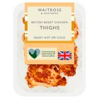 Waitrose British roast chicken thighs - 435g