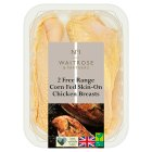 Waitrose 2 Free Range British chicken breast fillets -