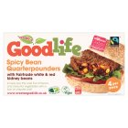 Goodlife spicy bean quarterpounders - 454g