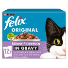 PURINA® FELIX® Adult Cat Mixed Selection in Gravy Wet Food Pouch - 12x100g