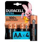 Duracell Ultra Power AA Batteries Alkaline - 4s Brand Price Match - Checked Tesco.com 21/01/2015