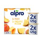 Alpro Soya exotic fruits plant-based alternative to yogurt - 4x125g Brand Price Match - Checked Tesco.com 15/09/2014