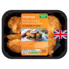 Waitrose British breaded chicken breast mini fillets - 250g