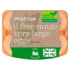 Waitrose British Blacktail very large free range eggs - 6s