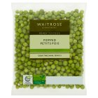 Waitrose ready popped petits pois - 190g