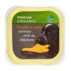 Waitrose organic special recipe dogs terrine with chicken - 150g