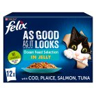 Felix 'As Good as it Looks' 12 pouches - ocean feasts in jelly - 12x100g Brand Price Match - Checked Tesco.com 16/07/2014