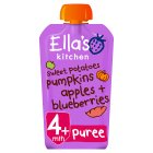 Ella's Kitchen Organic sweet potatoes, pumpkin, apples and blueberries baby food - 120g