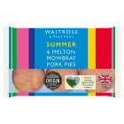 Waitrose 6 mini Melton Mowbray pork pies - 300g