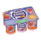 Yoplait red fruits petits filous - 6x50g