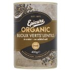Epicure canned organic bijoux verts lentils - drained 240g Brand Price Match - Checked Tesco.com 26/11/2014