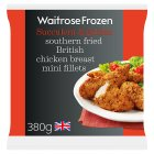 Waitrose Frozen British southern fried chicken mini fillets - 380g
