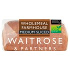 Waitrose LOVE life stoneground wholemeal medium sliced bread - 800g