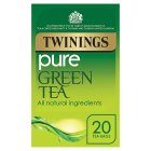 Twinings pure green 20 tea bags - 50g Brand Price Match - Checked Tesco.com 23/11/2015
